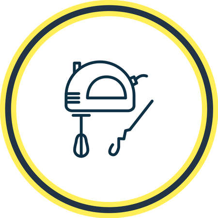 illustration of mixer icon line. Beautiful appliance element also can be used as whisk icon element.