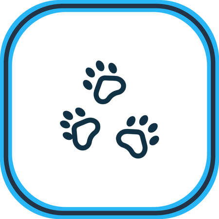 illustration of pet icon line. Beautiful zoo element also can be used as paw icon element.