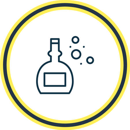 Vector illustration of old whiskey icon line. Beautiful alcohol element also can be used as vintage cognac icon element.