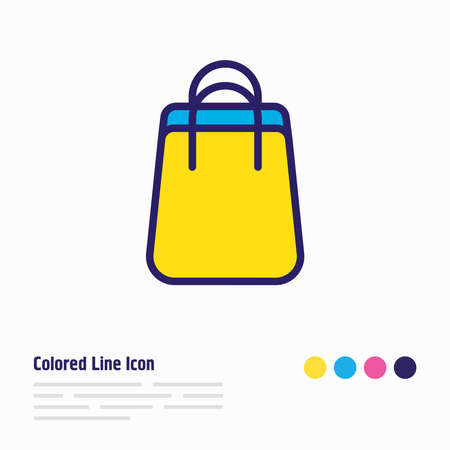 Vector illustration of shopping bag icon colored line. Beautiful wholesale element also can be used as package icon element.