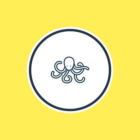 Vector illustration of octopus icon line. Beautiful zoo element also can be used as tentacle icon element.