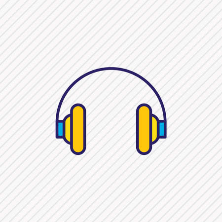 Vector illustration of headphones icon colored line. Beautiful hardware element also can be used as earphone icon element.