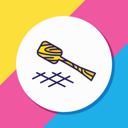 Vector illustration of turner icon colored line. Beautiful cutlery element also can be used as wooden spatula icon element.