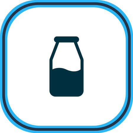 Vector illustration of milk bottle icon line. Beautiful food element also can be used as cruet icon element.