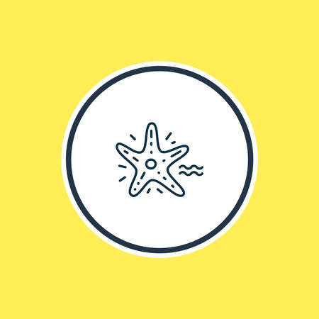 Vector illustration of starfish icon line. Beautiful naval element also can be used as sea star icon element.