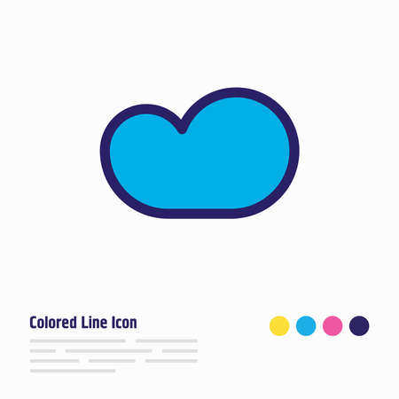 Vector illustration of cloud storage icon colored line. Beautiful internet element also can be used as backup icon element. Ilustrace