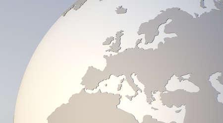 Europa Erdkugel Detail