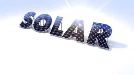 industrie: Solar Sonne Schrift freigestellt Stock Photo