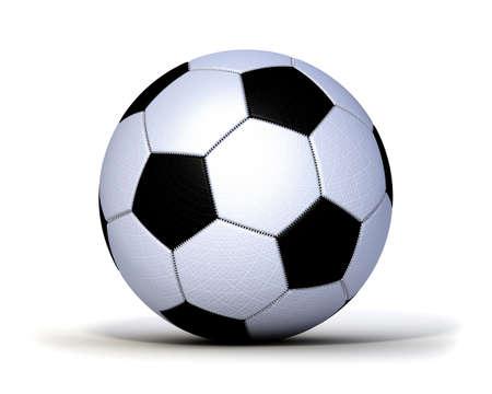 kugel: Fu�ball gen�ht Leder Gewebe freigstellt Stock Photo