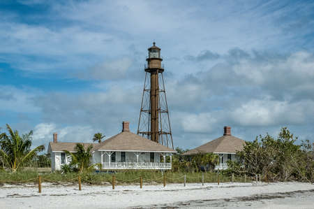 Sanibel light with blue sky
