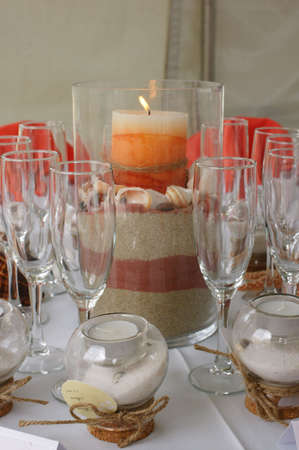 beach wedding: table setting 1
