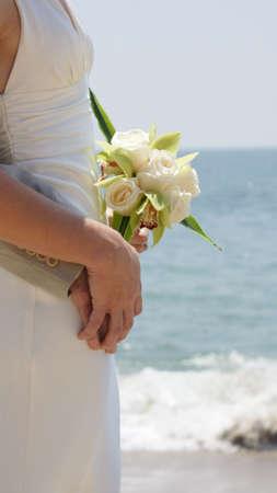 beach bride photo