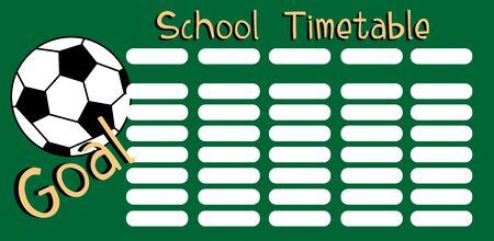 Timetable for elementary school, with football.