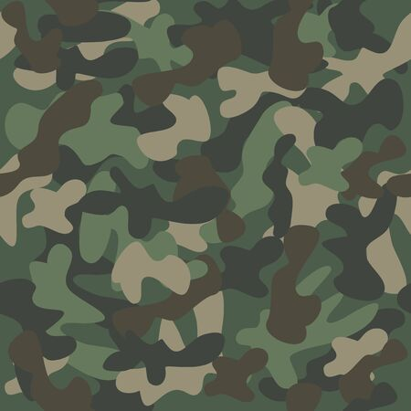 Camouflage, abstract military seamless pattern.