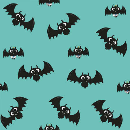 Cute bats seamless pattern for halloween. Good for wrapping paper, cover. Illusztráció