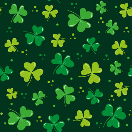 Clover leaf seamless pattern for St. Patrick's Day. Good for wrapping paper, wall paper, backgound and decoration.