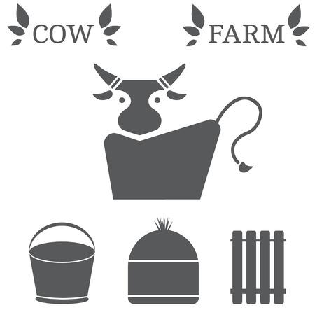 moo: set of farming icons