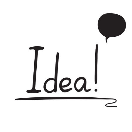 handdrawn: Hand-drawn Idea with speech bubble Illustration