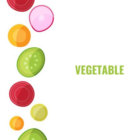 Vegetable collection. Vegan food concept for cafe, vegan restaurant, veggie cooking. Vector illustration.