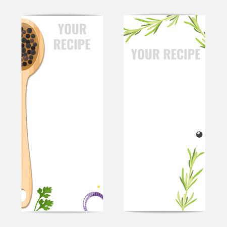 Banners for cooking Studio, cooking school, home cooking. 矢量图像