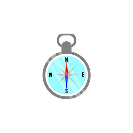 Compass icon in flat style. Isolated on white background. Navigation concept.