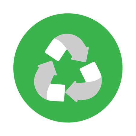 Symbol for recycling, label for recycling. World Ecology concept.