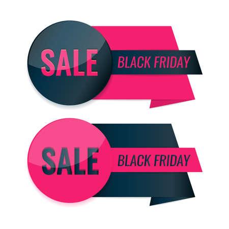 Set of Black Friday labels. Sale tag design. 일러스트