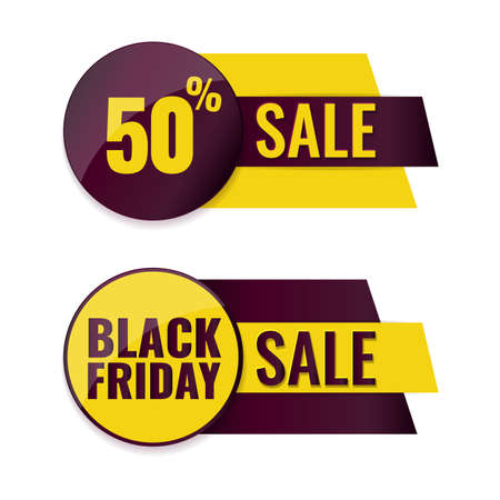 Set of Black Friday banners. Advertising label concept. 일러스트