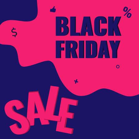 Black Friday discount modern banner. Sale offer concept. 일러스트