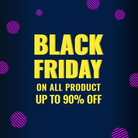Black Friday promotion modern banner with abstract geometric background. Sale offer concept.