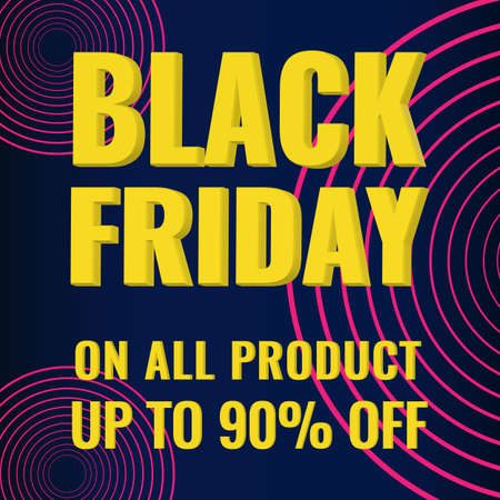 Black Friday promotion modern abstract geometric banner. Sale offer concept.