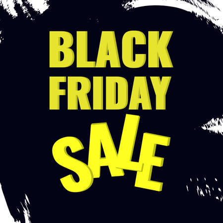 Black Friday promotion banner with abstract black background. Sale concept. 일러스트