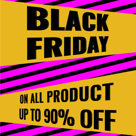 Black Friday Sale modern abstract geometric banner. Promotion poster.