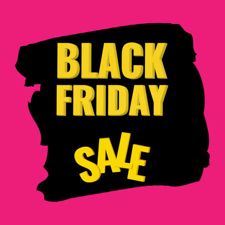 Black Friday Sale banner with abstract background. Promotion poster.