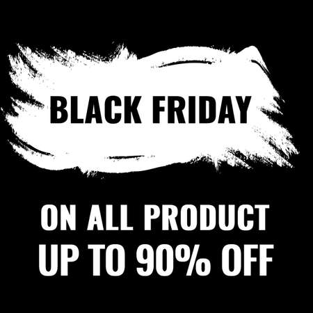 Black Friday promotion banner with abstract black and white background. Sale concept.