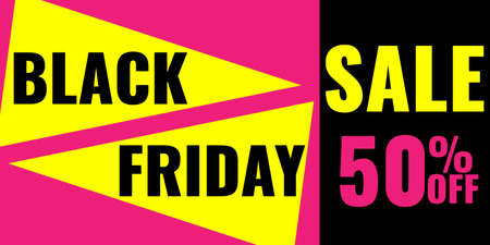 Black Friday Sale modern abstract geometric banner. Promotion coupon. 일러스트