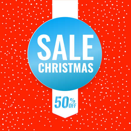 Christmas discount banners with lots of snowflakes on the background. Season sale concept. 일러스트