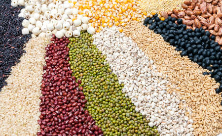 A large collection of all kinds of dry goods, grains and grains