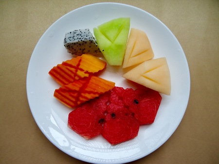 Yummy fruity, appetizer after meal Stock Photo