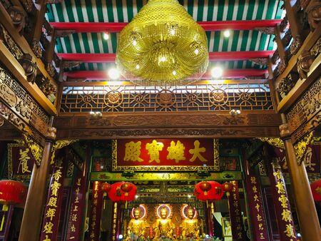 Chinese Buddha at Dragon Kamalawat Temple, Wat Leng Noei Yi Chinese buddhist temple in Bangkok, Thailand