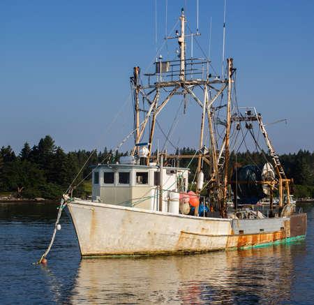 trawler: Port Clyde Maine fishing trawler Stock Photo