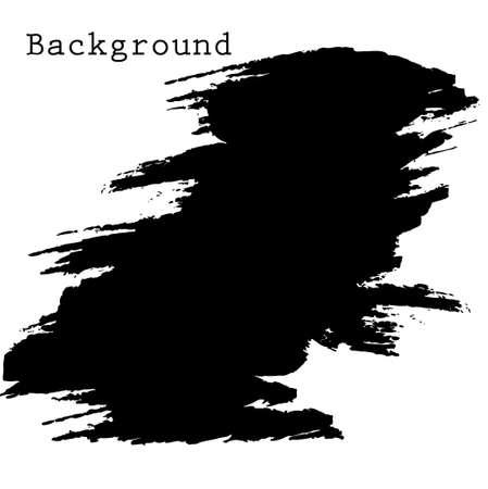 black spot grunge, drawn with a brush on a white Ilustração