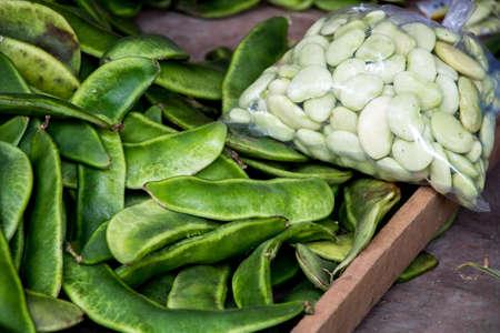 Lima Bean. Duffin Bean. Phaseolus lunatus. Phaseolus limensis Macf