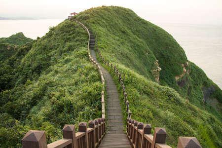 Landscape View of The Northeast Coast of Taiwan on Bitou Cape Hiking Trail , New Taipei City, Taiwan