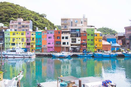 Keelung City, Taiwan. June. 29, 2019: Chen-The Pin Fishing Harbor- A landmark on the north coast of Taiwan. Stock Photo