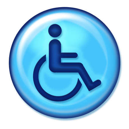 Blue handicap Symbol photo