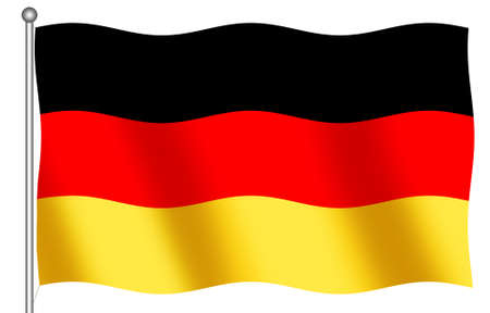 deutsch: German Flag on a white background Stock Photo
