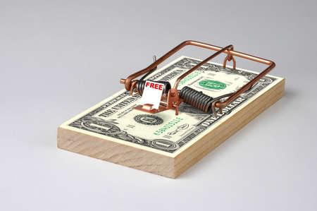 pitfall: Photo of a Money  Mouse Trap Stock Photo