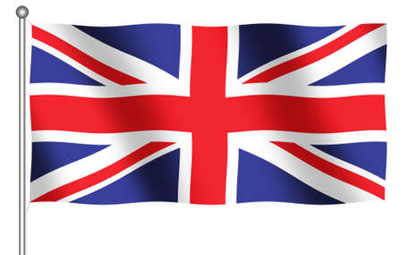 Computer Generated flag of Great Britain on white background Reklamní fotografie