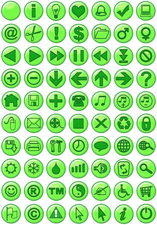 option key: Web Icons in green